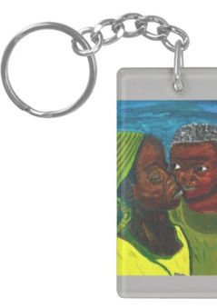 """Art Inspired Key Chain - """"A Mother's Love"""