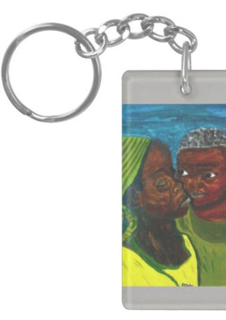 "Art Inspired Key Chain - ""A Mother's Love"