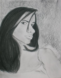 Charcoal/Pencil drawing as birthday present