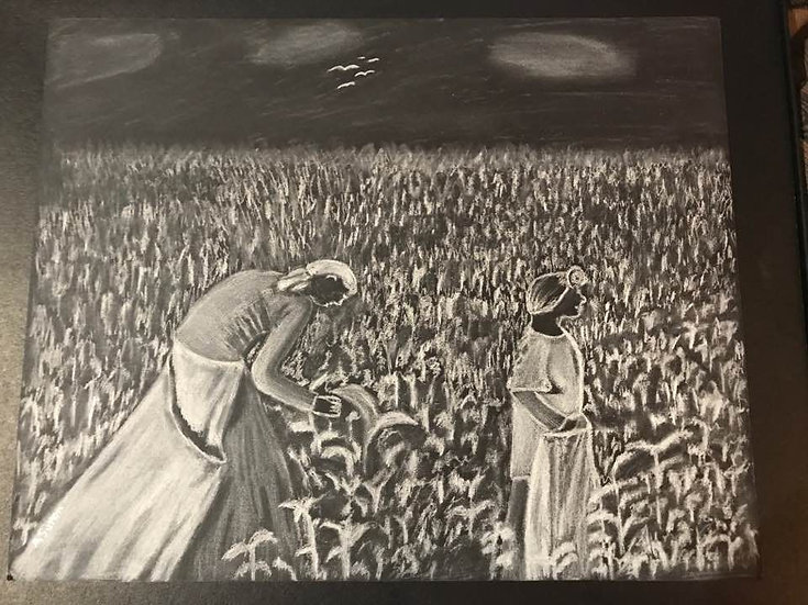 """Cotton Picking"" wall decor"