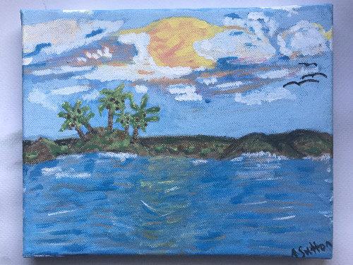 """""""Sunset Palms"""" wall decor"""