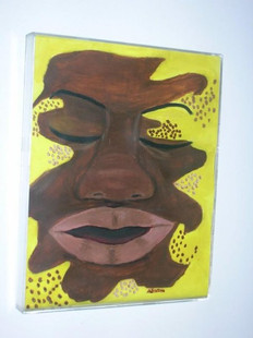 Gouache Abstract painting