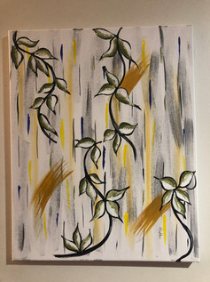 Flower Vines (acrylic on canvas)