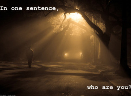 Writing prompt: In one sentence….