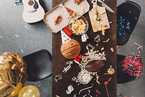 top-view-of-basketball-ball-with-funny-f