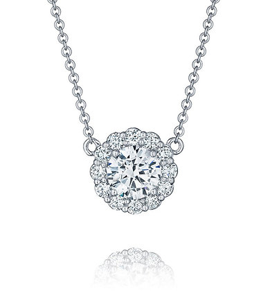 Diamond Bloom Halo Necklace Mounting