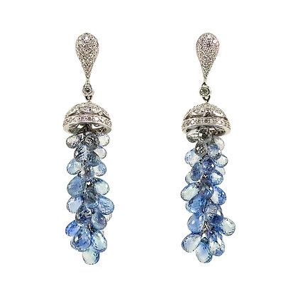 Sapphire Briolette Dangle Earrings