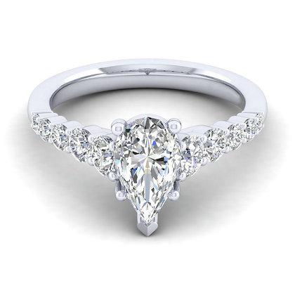 Pearshape Semi-Mount Engagement Ring