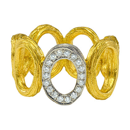 Open Oval Link Ring
