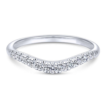 Curved French Pavé Set Wedding Band
