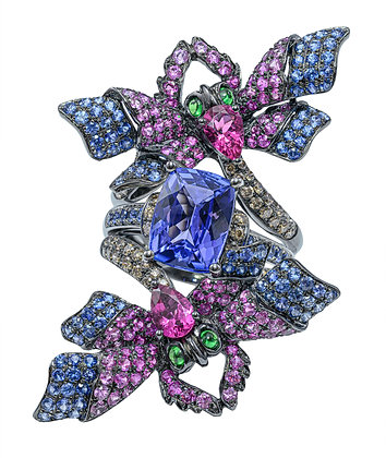 Tanzanite 2-Piece Dragonfly Ring