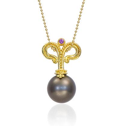 Tahitian Pearl & Sapphire Pendant
