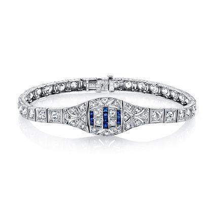 Antique Style Sapphire Bracelet