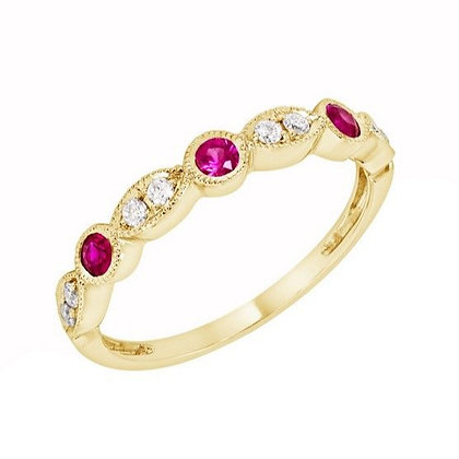 Ruby & Diamond Alternating Band
