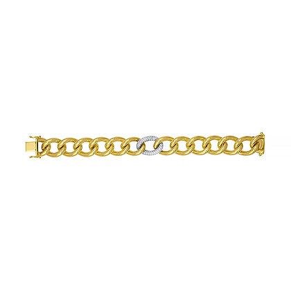 Open Link Bracelet with One Diamond Link