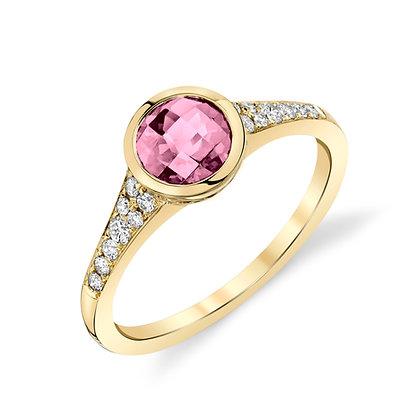 Pink Spinel Bezel Ring