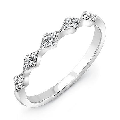 4-Stone Cluster Diamond Band