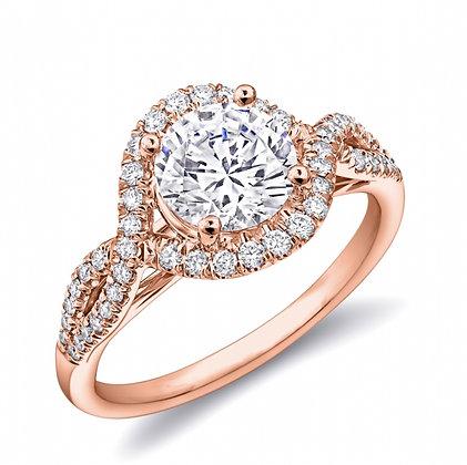 Diamond Twist Semi-Mount Engagement Ring