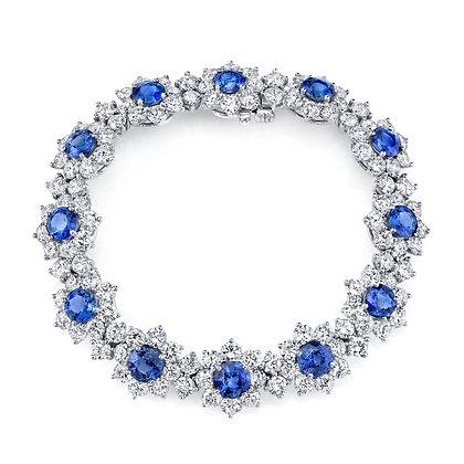 Sapphire & Diamond Eternity Bracelet