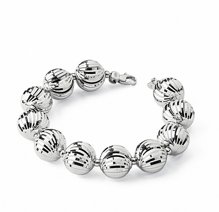 Diamond Cut-Bead Bracelet