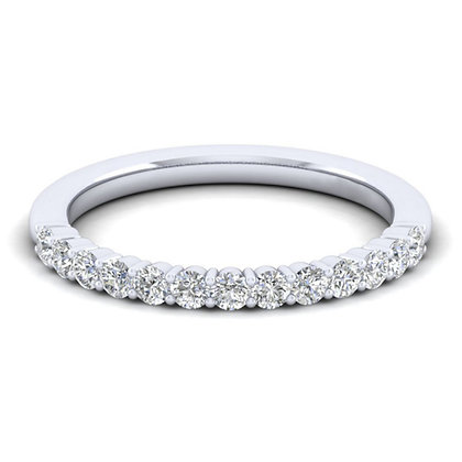 Platinum Shared Prong Wedding Band