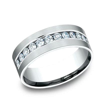 Diamond Channel Wedding Band