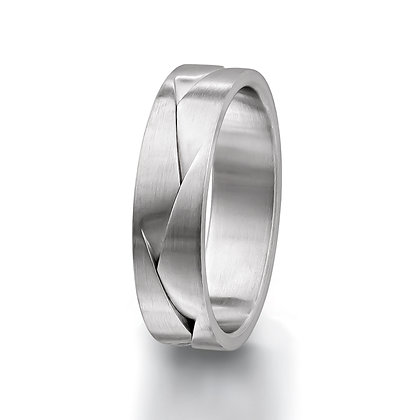 Satin Flatwave Men's Wedding Band