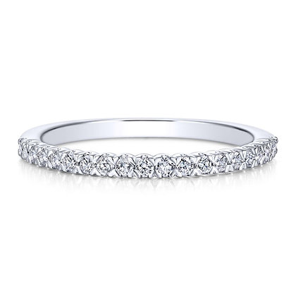 Diamond Prong Set Wedding Band