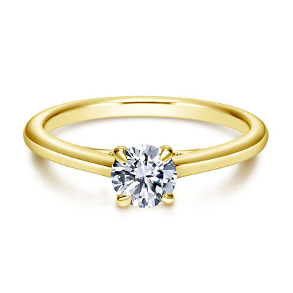 Round Solitaire Engagement Ring with Filigree Gallery