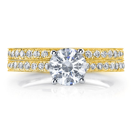 Semi-Mount Milgrain Engagement Ring