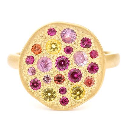 Sapphire Sunburst Ring