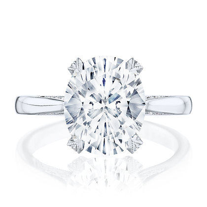 4-Prong Oval Semi-Mount Engagement Ring