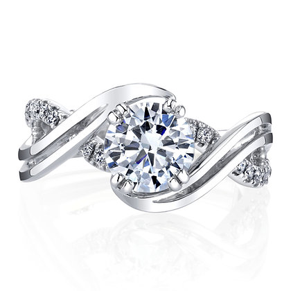 Diamond Wave Engagement Ring