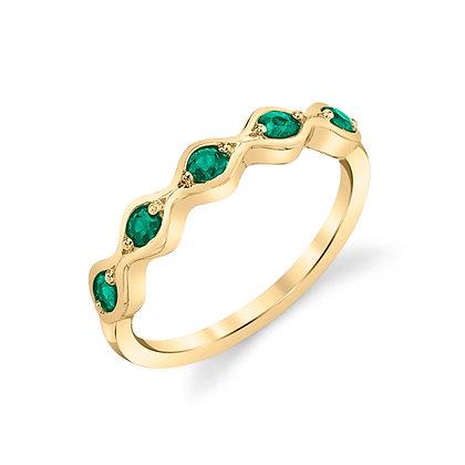 5-Stone Emerald Band