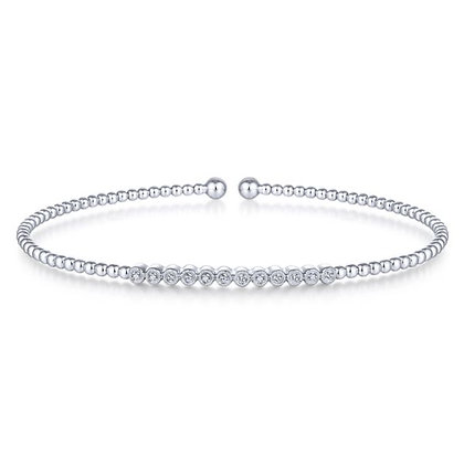 Bezel-Set Diamond Bubble Bangle