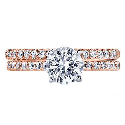 Semi-Mount Micro Pavé Engagement Ring