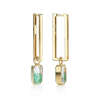 Emerald Shaker Drop Earrings