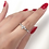 Thumbnail: Diamond Cluster Wedding Band