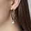 Thumbnail: Two-Tone Enamel Hoops with Diamond Shakers