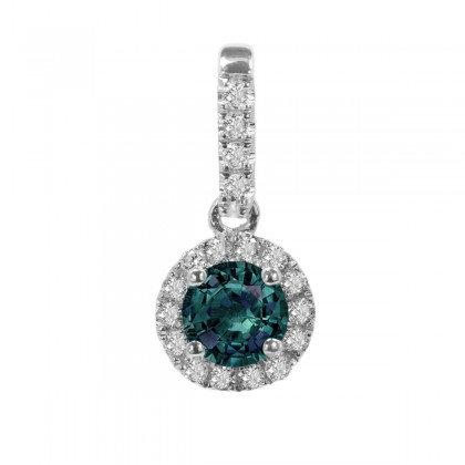 Alexandrite & Diamond Pendant