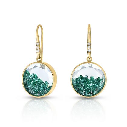 Emerald Shaker Earrings