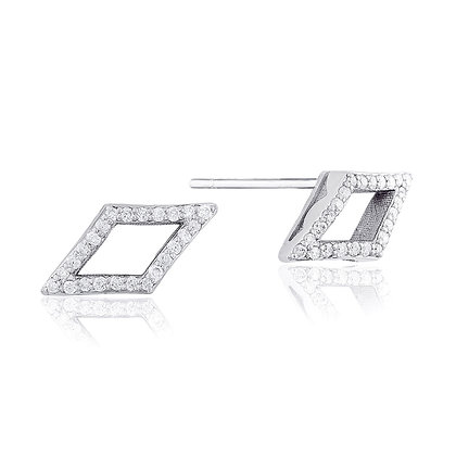 Diamond Open-Marquise Stud Earrings