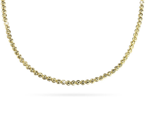 Diamond-cut Bead Necklace