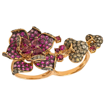 Floral Double Ring