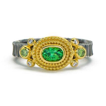 Tsavorite Garnet Oval Ring