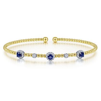 Sapphire & Diamond Bubble Bracelet
