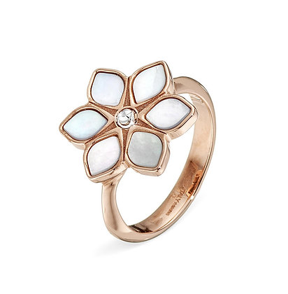 Mother-of-Pearl Flower Ring
