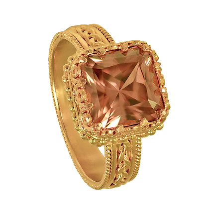 Zircon Filigree Ring