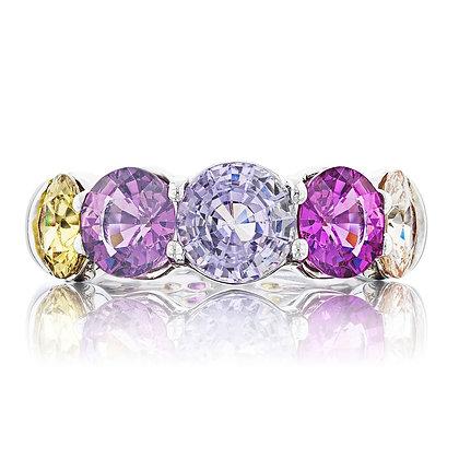 5-Stone Multicolor Sapphire Band