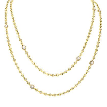 Rose-cut Diamond Long Necklace